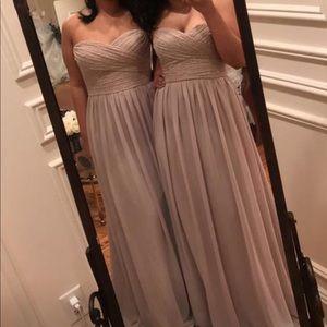 Beige strapless Bridesmaid Dress